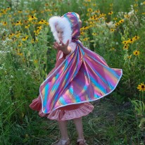 Rainbow Princess Cape 4-6Y