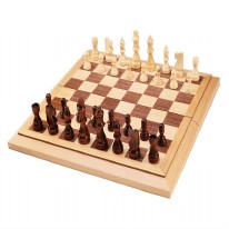 Wood Chess/Checkers Combo