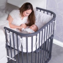 Babybay Bedside Sleeper Grey