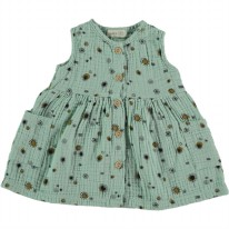 Bambula Dress Sea Green 3-6m