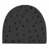 Beanie Spots Black 3-6m