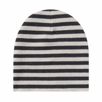 Beanie Stripes Beige 3-6m