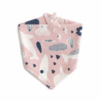 Bib Sea Creatures Pink/Navy