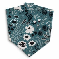 Bib Teal Wildflower