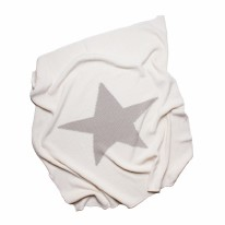 Blanket - Cream with Grey Star