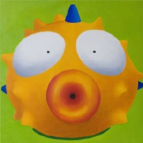 Blow Fish Oil on Canvas
