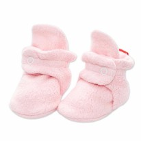 Booties Fleece Baby Pink 0-3m