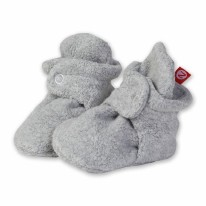 Booties Fleece Grey Hthr 6m