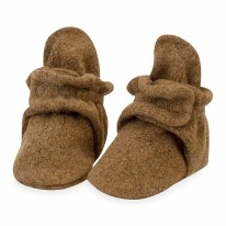 Booties Fleece H Mocha 3m