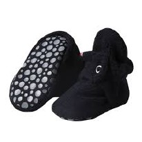 Booties Grip Fleece BLK 18m