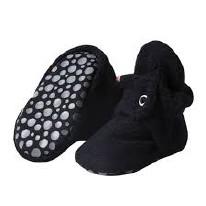 Booties Grip Fleece BLK 24m