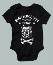 Brooklyn Bone Onesie 3-6m