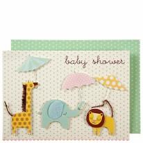 Card MERI Animals & Umbrellas