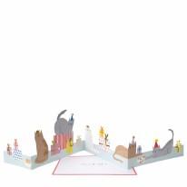 Card MERI Cat Party Concertina