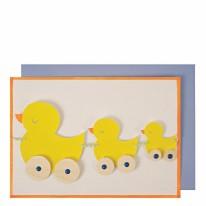 Card MERI Duck Train Garland