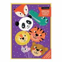 Card Puzzle- Animal Ballooons