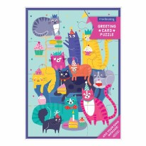 Card Puzzle- Cat Party