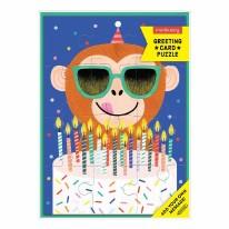 Card Puzzle- Monkey Cake