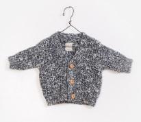 Cardigan Black Tweed 3-6m