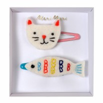 Cat & Fish Hair Clips