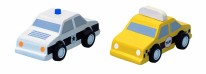 City Taxi and Police Cars