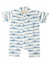 Collared Romper Airplanes 0-1y