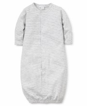 Conv Gown Grey Stripe NB