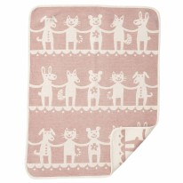 Dance Chenille Blanket Pink