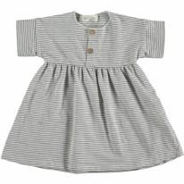 Dress White Stripe 6-9m