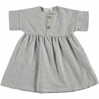 Dress White Stripe 9-12m