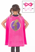 Girl Pink Hero Cape & Mask Set