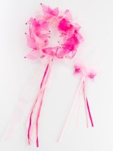 Fairy Halo & Wand Light Pink/Hot Pink