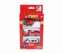FDNY 3pc Vehicle Set