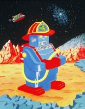 Firebot Gouache on Board