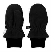 Fleece Mittens Black 3-9m