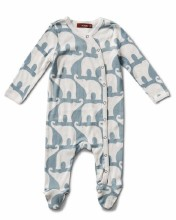 Footie Blue Elephant 0-3m