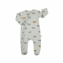 Footie Blue Goat 3-6m