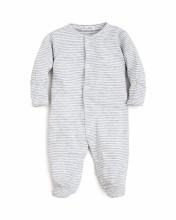 Footie Grey Stripe 0-3m