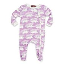 Footie Lavender Hedgehog 0-3m