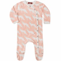 Footie Pink Fox 0-3m