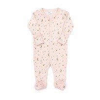 Footie Shell Pink Stars 0-3m