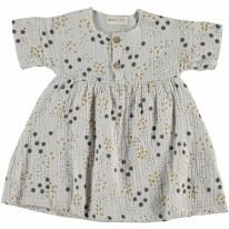 Gauze Dress Grey 3-6m