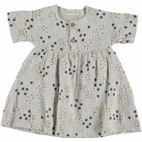 Gauze Dress Grey 6-9m