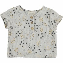 Gauze T-Shirt Grey 9-12m