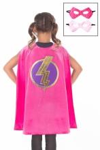 Girl Pink Hero Cape & Mask Set