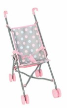 Doll Stroller Dots Grey Frame