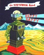 Happy Happy Gouache on Board