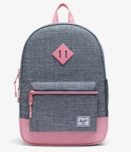 Heritage Youth Backpack Raven Crosshatch/Flamingo Pink
