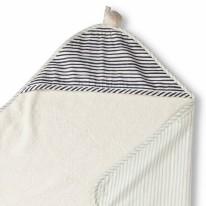 Hooded Towel Stripe Away Sea