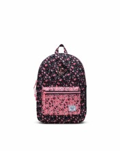 Heritage Youth Backpack Floral Black/Flamingo